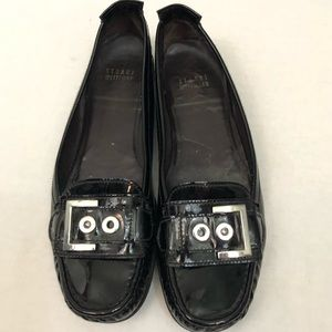 Stuart weitzman black loafer shoes 8